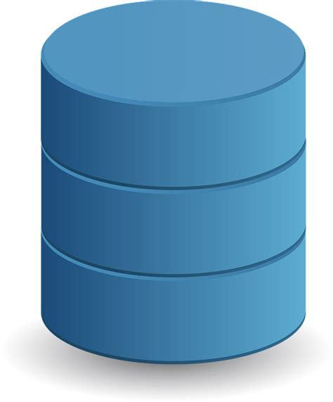 visio cylinder free vector graphic database data storage cylinder