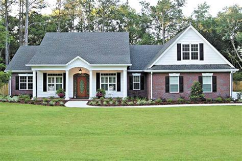 eplans country house plan large front porch 1856 colonial ranch home plan 3 bdrm 2097 sq ft house
