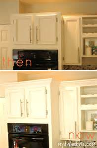 good How To Add Crown Molding To Cabinets #1: oven+top+before+and+after.jpg
