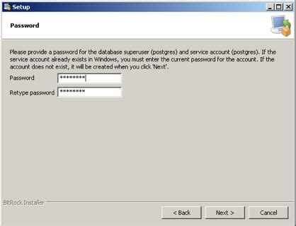 windows reset postgres password run postgres installer arts management systems