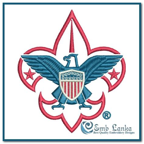 boy scout of america boy scouts of america logo 2 embroidery design emblanka