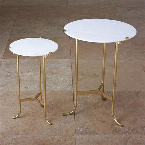 marble brass side table pavlova regency brass white marble side table