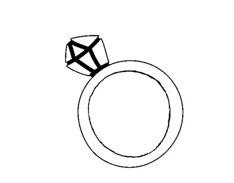 Diamond Ring Coloring Pages Clipart Best Ring Coloring Pages