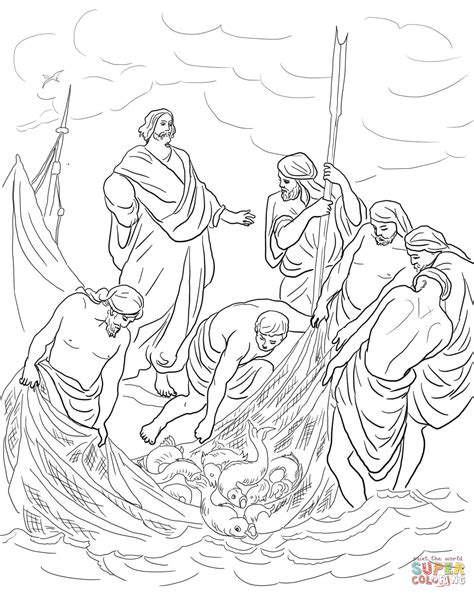 jesus fisherman coloring page coloring pages