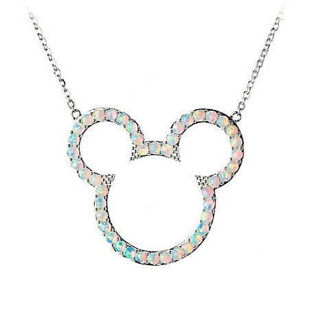 Disney Mickey Necklace Kalung disney hook necklace mickey mouse opal silver