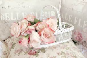 shabby chic roses dreamy cottage shabby chic pink roses in white basket