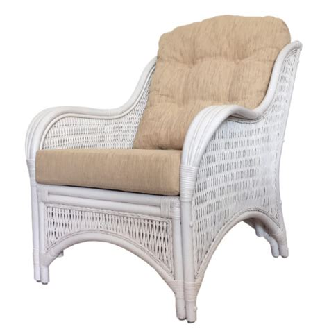 White Wash Wicker Bedroom Furniture by Rattan Lounge Armchair Karmen Color White Wash With