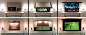 television over fireplace tv cover ups frame tv mirror amp art solutions tv cover ups