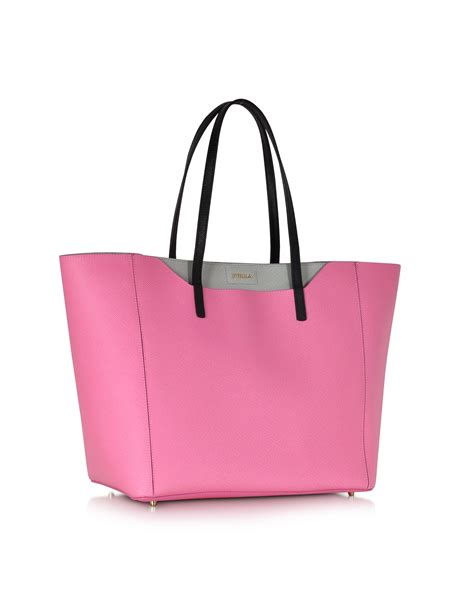 Bags The Bag Snob 2 by Lyst Furla Fantasia Pink Gray Leather Tote Bag In Pink