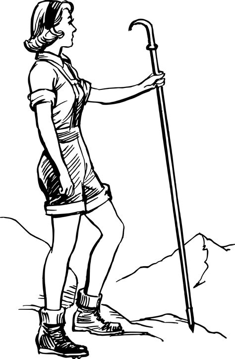 Hiking clipart woman hiker, Hiking woman hiker Transparent