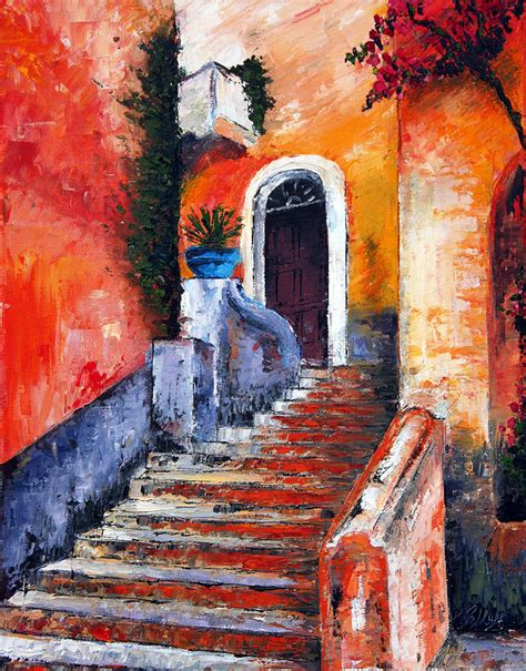 painting no colors of genoa palette knife painting no brush