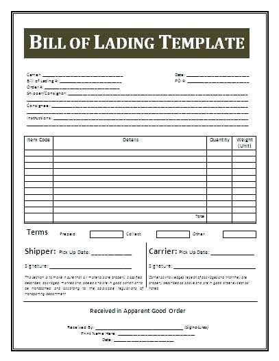 Great Bill Of Lading Template Excel Photos Bill Of Lading Template Excel Fresh Printable Free Bill Of Lading Template Excel