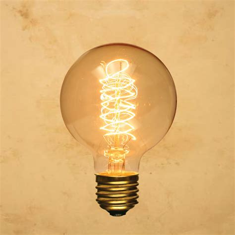 Spiral Light Bulbs by G80 Edison Style Light Bulb Globe Spiral Vintage Antique