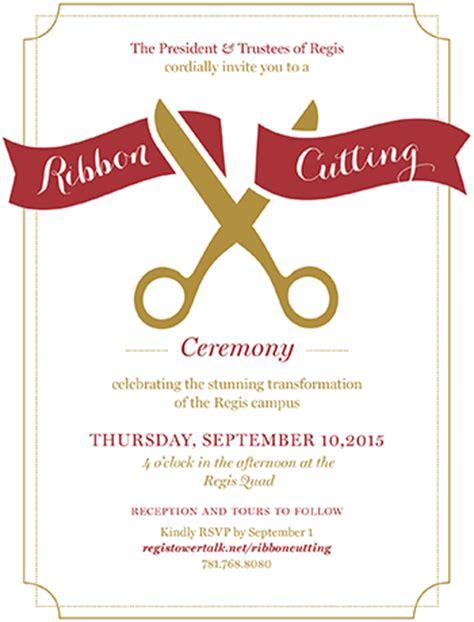 ribbon cutting ceremony invitation custom invitations
