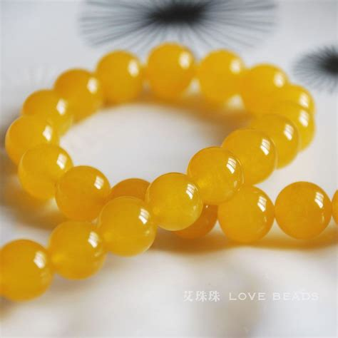 Yellow Chalcedony Top Mantap aliexpress buy yellow chalcedony 4 14mm bead bracelet necklace