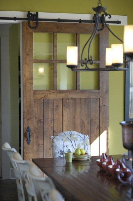 Interior Barn Doors With Glass Interior Barn Door With Glass For The Home