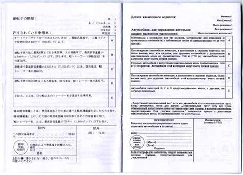 国際免許証 International Driving Permit の見本