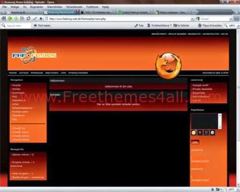 firefox themes orange free php fusion themes freethemes4all