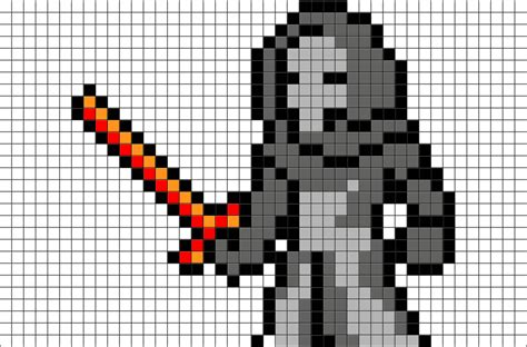 star wars kylo ren pixel art brik