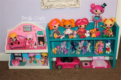 lalaloopsy doll houses doodlecraft lalaloopsy and my little pony dollhouse from shelf
