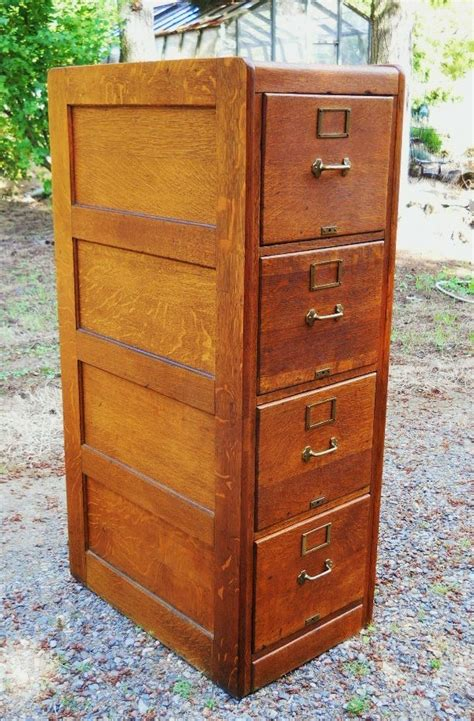 Antique Oak File Cabinet Circa 1890s To 1900 Antique Arts And Crafts