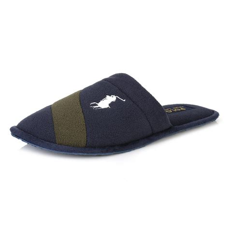 mens ralph slippers ralph mens navy blue green rugby crest scuff