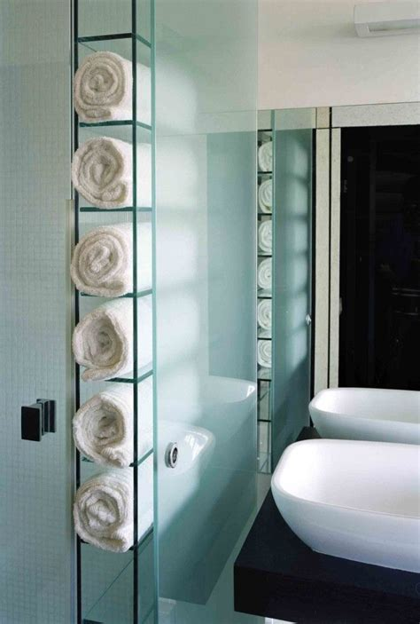 Storage For Towels In Small Bathroom Built In Towel Storage Sewing Kit Master Bath Pinterest Towel Storage Bathroom Designs