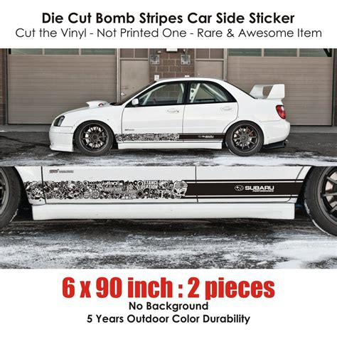 subaru racing decals subaru sti brz wrx bomb stripes stickers wrx jdm