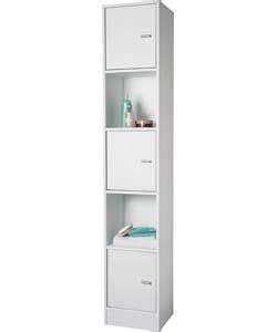 Argos Kitchen Furniture Cottage White Tall Storage Cabinet Shelf Unit Home Amp Kitchen