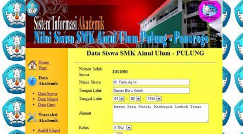 desain database sistem informasi akademik sistem informasi akademik dengan php wepsetindo
