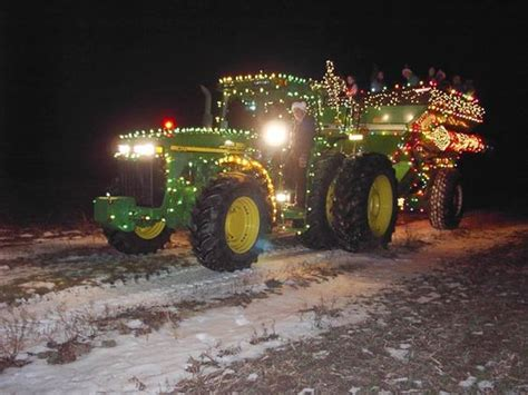 tractors christmas lights and lights on pinterest