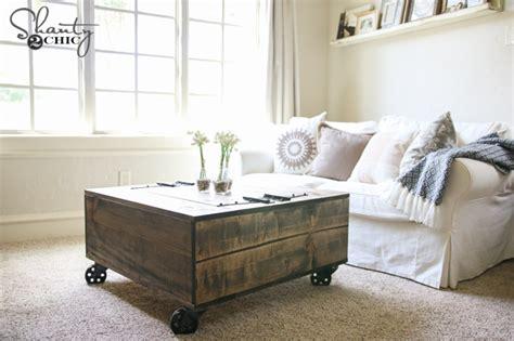2 coffee tables diy storage coffee table tutorial