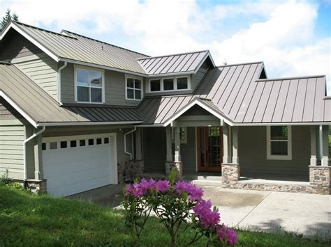 grey metal roof grey siding dreamy home green colors and the grey