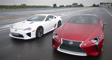 lexus lfa concept lexus lfa meets the lf lc concept video