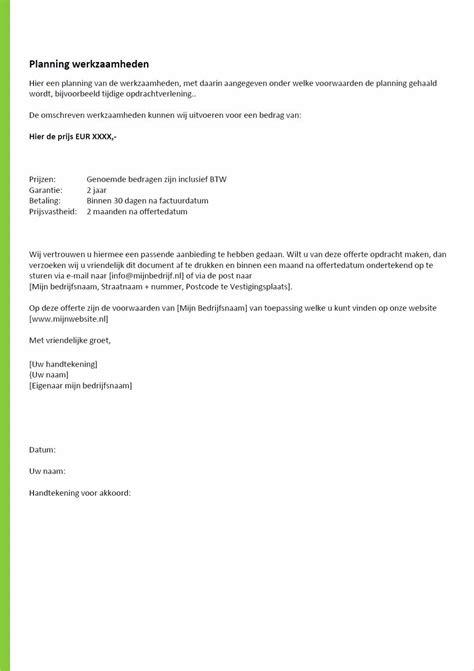 Voorbeeld Offerte Brief Als Begeleidend Schrijven offerte brief schrijven voorbeeld voorbeeld cv 2018