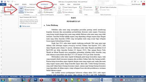 cara membuat catatan kaki di word 2013 cara membuat catatan kaki pada ms word 2013