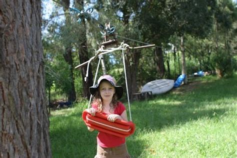 how to build a backyard zip line dream job for woodworker homemade zipline