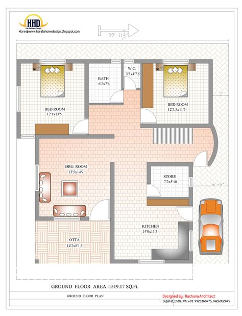 ground floor plan for 1000 sq feet modern house plans for 1000 sq ft modern house