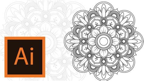 mandala pattern youtube tutorial mandala illustrator mandala illustrator 3