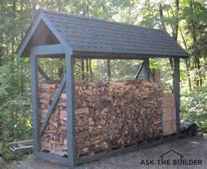 Building A Cinder Block House how to build a custom firewood shelter ask the builder