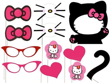printable hello kitty photo booth props hello kitty photo booth hello kitty party pinterest