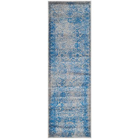 10 foot rug runners safavieh adirondack grey blue 2 ft 6 in x 10 ft runner adr109a 210 the home depot