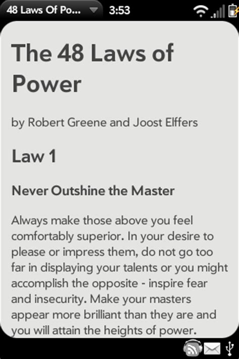 48 laws of power | webos nation