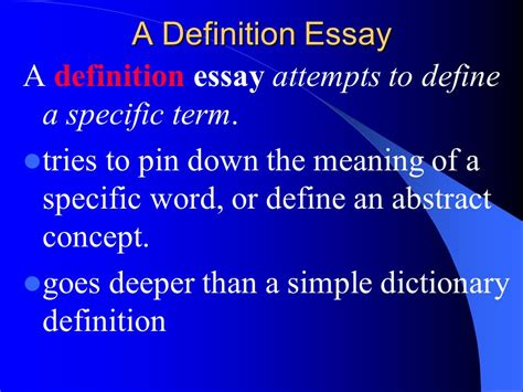 Definition Essay Assignment by Word Definition Essay Resume Of Communicationsystems Engineer Basic Elements Of A