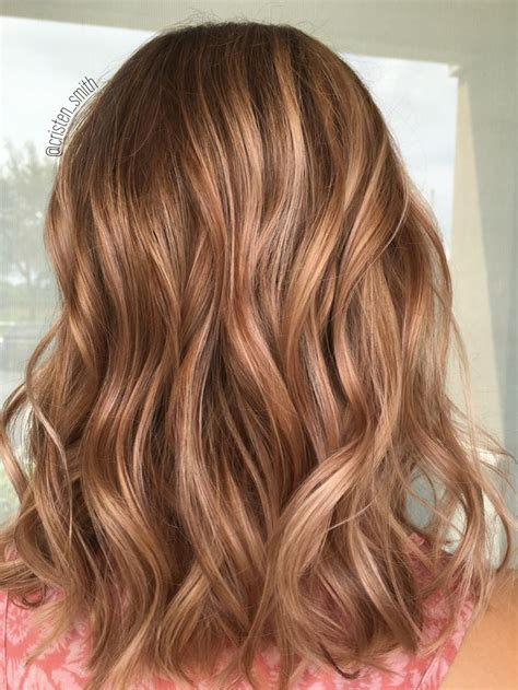 caramel colored highlights like this or lighter hair dimensional