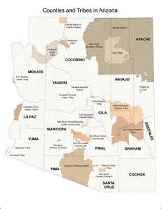 arizona indian tribes map maps itca