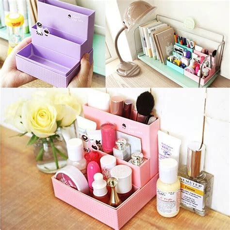 Rak Kayu Kosmetik Big Size Cosmetic Storage Stationary Murah paper board storage box desk decor stationery makeup