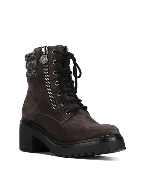 moncler boots moncler viviane ankle boots in gray lyst