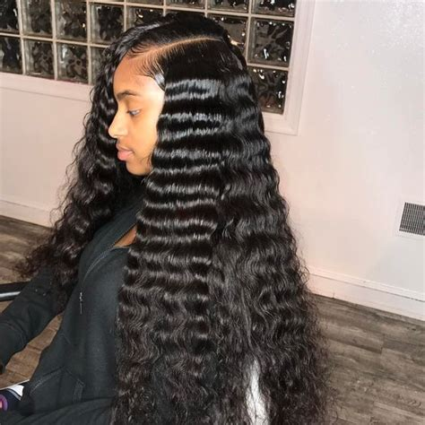 sew in for round face 31 weave hairstyles for summer 2018 hair luxe