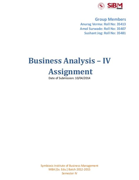 Mba In Business Analytics Symbiosis by Assignment On Current Economic Conditions